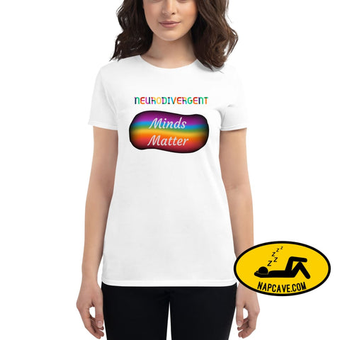 NeuroDivergent Minds Matter Womens short sleeve t-shirt White / S The NapCave NeuroDivergent Minds Matter Womens short sleeve t-shirt autism