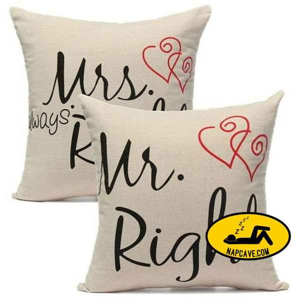 New 1PC Mr Mirs Right Linen Car Home Accesorries Cushion Covers Pillow Cases Pillow cover Nap pillow Cover Cute seat cushion pillow AliExp