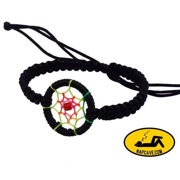 New Leather Cute Charm Campanula Dream Catcher Bracelet Colorful Black / one-size Nap Cave New Leather Cute Charm Campanula Dream Catcher