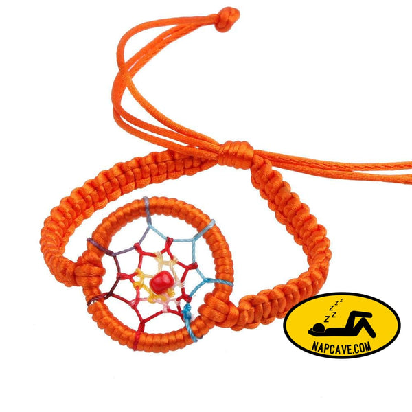 New Leather Cute Charm Campanula Dream Catcher Bracelet Colorful Orange / one-size Nap Cave New Leather Cute Charm Campanula Dream Catcher