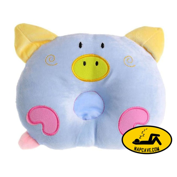 Newborn Pillow Baby Positioner Infant Prevent Pig Pattern Figure Head Pillows House Bedding Soft Sleeping Positioner Blue / China AliExp