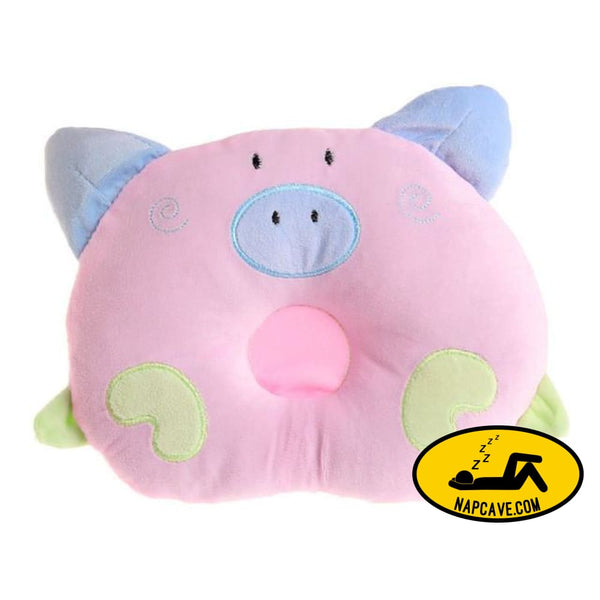 Newborn Pillow Baby Positioner Infant Prevent Pig Pattern Figure Head Pillows House Bedding Soft Sleeping Positioner Pink / China AliExp
