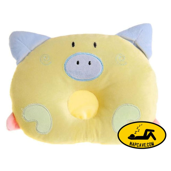 Newborn Pillow Baby Positioner Infant Prevent Pig Pattern Figure Head Pillows House Bedding Soft Sleeping Positioner Yellow / China AliExp
