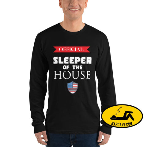 Official Sleeper of the House Long sleeve t-shirt Black / S The NapCave Official Sleeper of the House Long sleeve t-shirt #narcolepsy Lets