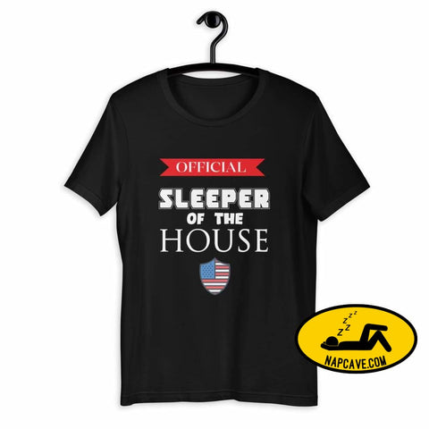 Official Sleeper of the House Short-Sleeve Unisex T-Shirt Black / XS The NapCave Official Sleeper of the House Short-Sleeve Unisex T-Shirt