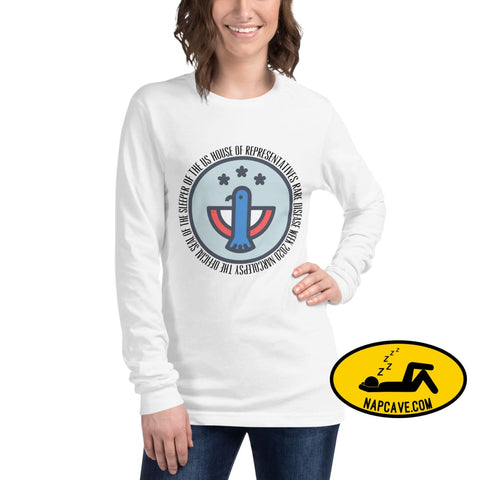 Official Sleeper of the House Unisex Long Sleeve Tee White / XS The NapCave Official Sleeper of the House Unisex Long Sleeve Tee gifts for