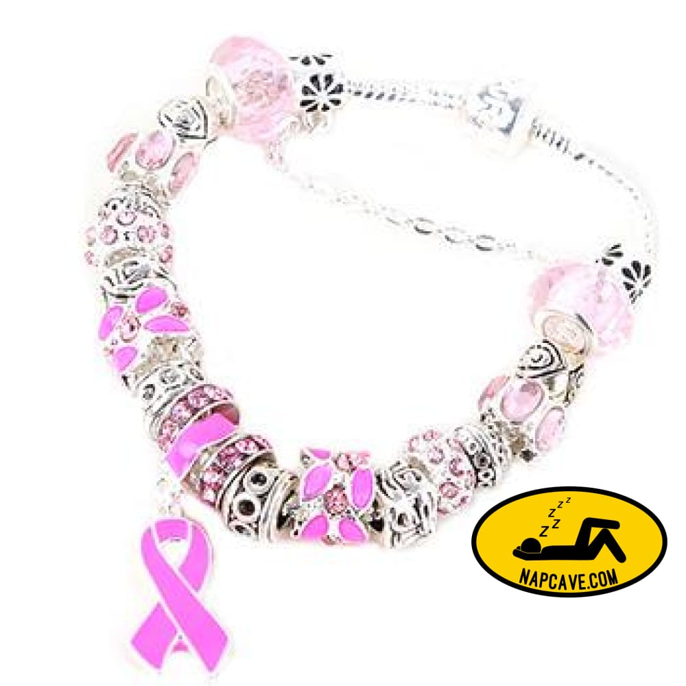 Pink Ribbon Awareness Bracelet The NapCave Pink Ribbon Awareness Bracelet