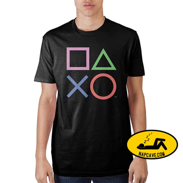 Playstation Black T-Shirt dtg Playstation Black T-Shirt mxed