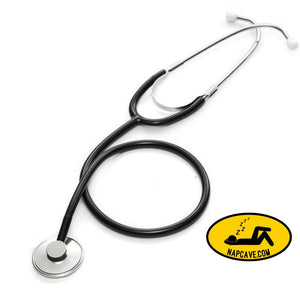 Portable Single Head Stethoscope Professional Cardiology Stethoscope Doctor Medical Equipment Student Vet Nurse Medical Device Black