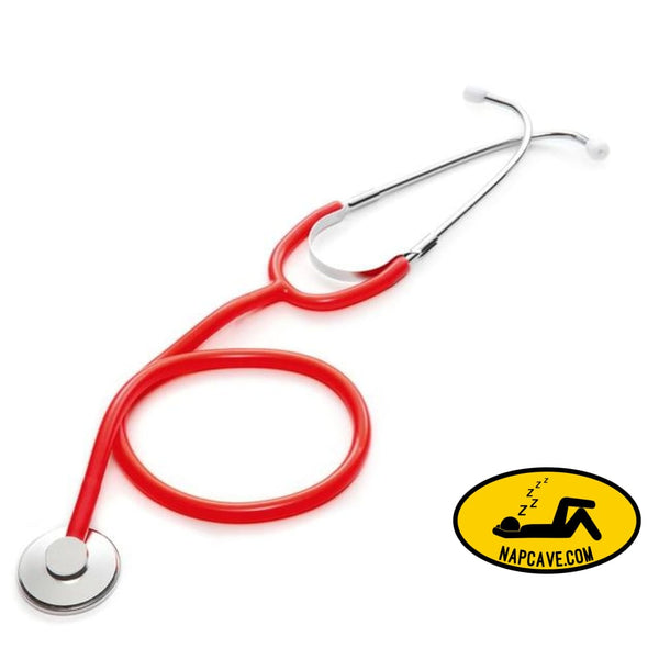 Portable Single Head Stethoscope Professional Cardiology Stethoscope Doctor Medical Equipment Student Vet Nurse Medical Device Red