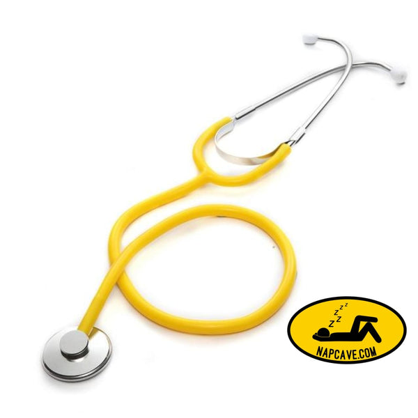 Portable Single Head Stethoscope Professional Cardiology Stethoscope Doctor Medical Equipment Student Vet Nurse Medical Device Yellow