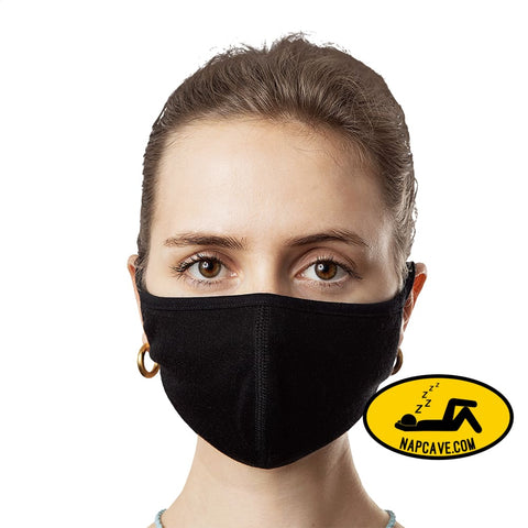 Quarantine Superhero Face Mask (3-Pack) S The NapCave Quarantine Superhero Face Mask (3-Pack) bend the curve,black face