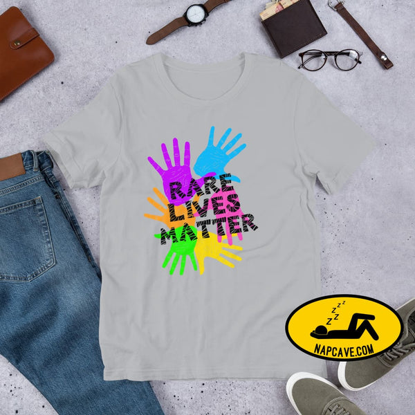 Rare (Disease) Lives Matter 2020 Short-Sleeve Unisex T-Shirt Silver / S The NapCave Rare (Disease) Lives Matter 2020 Short-Sleeve Unisex