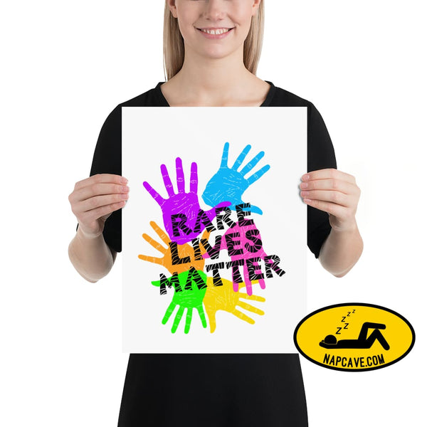Rare Lives Matter Poster 12×16 The NapCave Rare Lives Matter Poster cozy dare to be rare EDS Poster rare