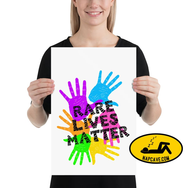 Rare Lives Matter Poster 12×18 The NapCave Rare Lives Matter Poster cozy dare to be rare EDS Poster rare