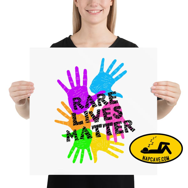 Rare Lives Matter Poster 18×18 The NapCave Rare Lives Matter Poster cozy dare to be rare EDS Poster rare
