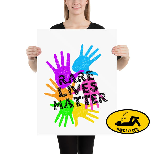 Rare Lives Matter Poster 18×24 The NapCave Rare Lives Matter Poster cozy dare to be rare EDS Poster rare
