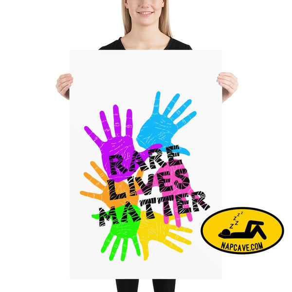 Rare Lives Matter Poster 24×36 The NapCave Rare Lives Matter Poster cozy dare to be rare EDS Poster rare