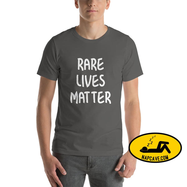 Rare Lives Matter Short-Sleeve Unisex T-Shirt Asphalt / S The NapCave Rare Lives Matter Short-Sleeve Unisex T-Shirt Naps are my Love Story
