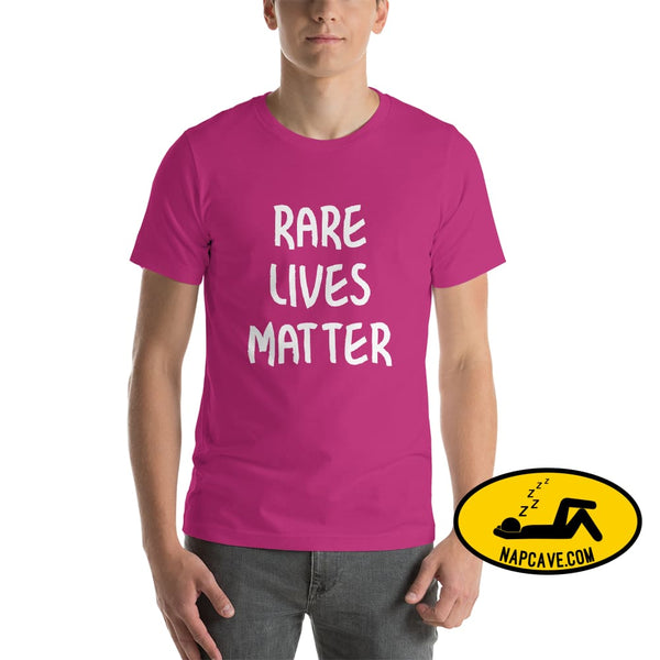 Rare Lives Matter Short-Sleeve Unisex T-Shirt Berry / S The NapCave Rare Lives Matter Short-Sleeve Unisex T-Shirt Naps are my Love Story