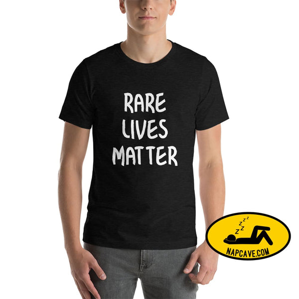 Rare Lives Matter Short-Sleeve Unisex T-Shirt Black Heather / S The NapCave Rare Lives Matter Short-Sleeve Unisex T-Shirt Naps are my Love