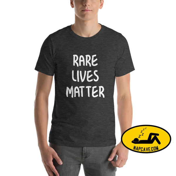 Rare Lives Matter Short-Sleeve Unisex T-Shirt Dark Grey Heather / S The NapCave Rare Lives Matter Short-Sleeve Unisex T-Shirt Naps are my