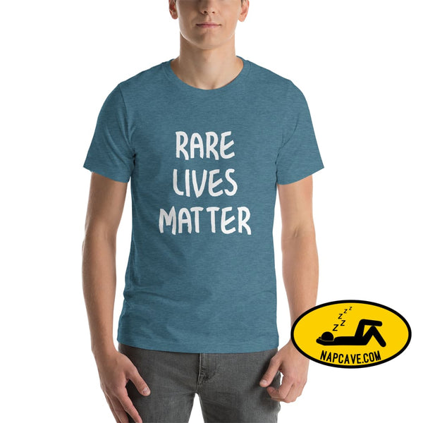 Rare Lives Matter Short-Sleeve Unisex T-Shirt Heather Deep Teal / S The NapCave Rare Lives Matter Short-Sleeve Unisex T-Shirt Naps are my