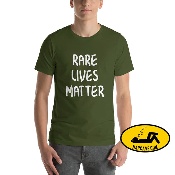 Rare Lives Matter Short-Sleeve Unisex T-Shirt Olive / S The NapCave Rare Lives Matter Short-Sleeve Unisex T-Shirt Naps are my Love Story