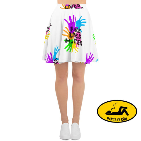 Rare Lives Matter Skater Skirt XS Skirts The NapCave Rare Lives Matter Skater Skirt blanket cozy dare to be rare EDS rare