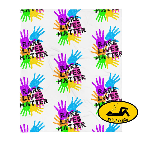 Rare Lives Matter Throw Blanket The NapCave Rare Lives Matter Throw Blanket blanket cozy dare to be rare EDS rare