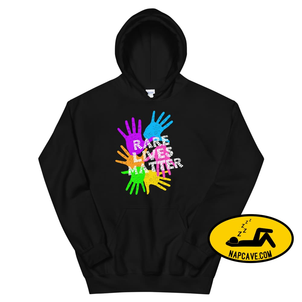 Rare Lives Matter Unisex Hoodie Black / S The NapCave Rare Lives Matter Unisex Hoodie invisible illness narcolepsy orphan drugs Rare