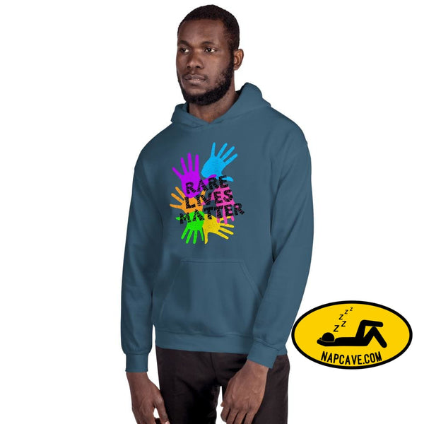 Rare Lives Matter Unisex Hoodie Indigo Blue / S The NapCave Rare Lives Matter Unisex Hoodie invisible illness narcolepsy orphan drugs Rare