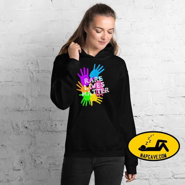 Rare Lives Matter Unisex Hoodie The NapCave Rare Lives Matter Unisex Hoodie invisible illness narcolepsy orphan drugs Rare (Disease) Lives