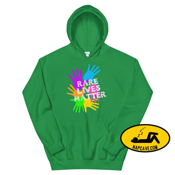 Rare Lives Matter Unisex Hoodie Irish Green / S The NapCave Rare Lives Matter Unisex Hoodie invisible illness narcolepsy orphan drugs Rare