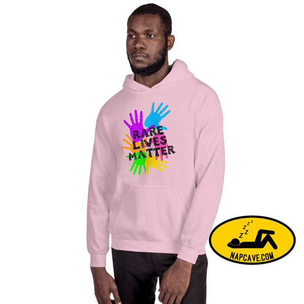 Rare Lives Matter Unisex Hoodie Light Pink / S The NapCave Rare Lives Matter Unisex Hoodie invisible illness narcolepsy orphan drugs Rare