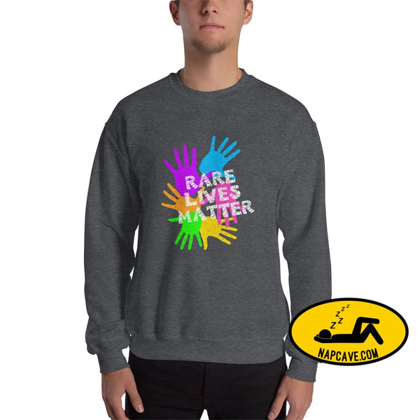Rare Lives Matter Unisex Sweatshirt Dark Heather / S The NapCave Rare Lives Matter Unisex Sweatshirt invisible illness narcolepsy orphan