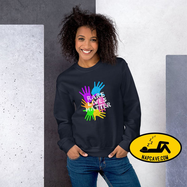 Rare Lives Matter Unisex Sweatshirt The NapCave Rare Lives Matter Unisex Sweatshirt invisible illness narcolepsy orphan drugs Rare (Disease)