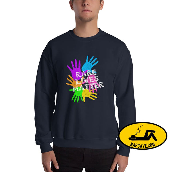 Rare Lives Matter Unisex Sweatshirt Navy / S The NapCave Rare Lives Matter Unisex Sweatshirt invisible illness narcolepsy orphan drugs Rare
