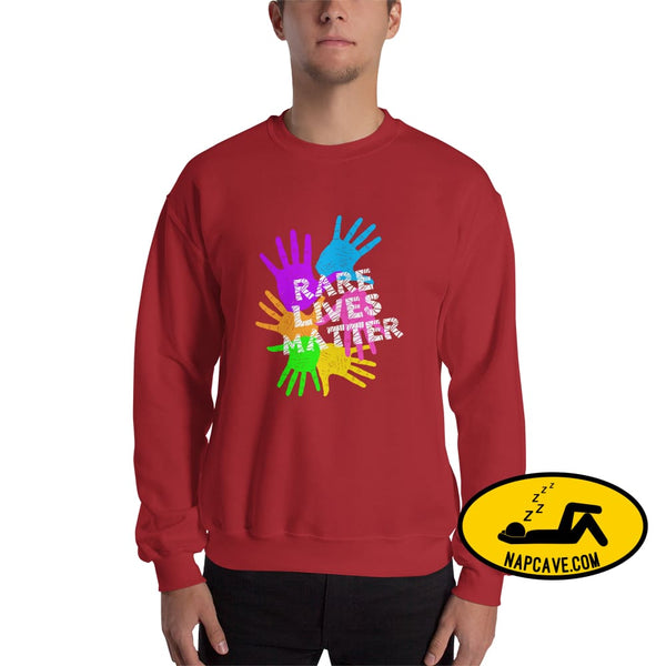 Rare Lives Matter Unisex Sweatshirt Red / S The NapCave Rare Lives Matter Unisex Sweatshirt invisible illness narcolepsy orphan drugs Rare