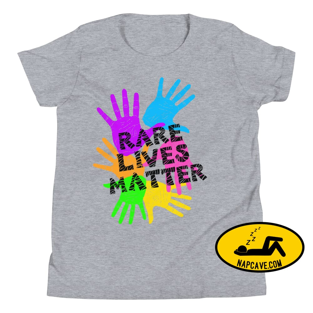 Rare Lives Matter Youth Short Sleeve T-Shirt Athletic Heather / S The NapCave Rare Lives Matter Youth Short Sleeve T-Shirt cozy dare to be