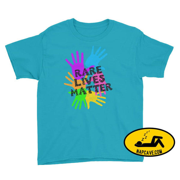 Rare Lives Matter Youth Short Sleeve T-Shirt Caribbean Blue / S SHIRTS The NapCave Rare Lives Matter Youth Short Sleeve T-Shirt dare to be