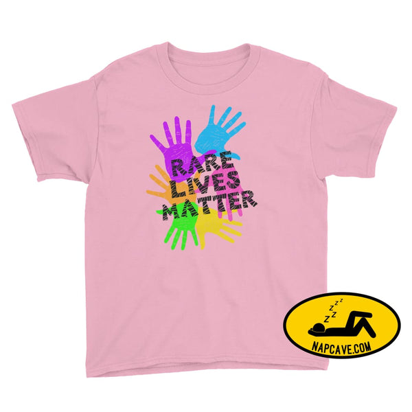 Rare Lives Matter Youth Short Sleeve T-Shirt Charity Pink / L SHIRTS The NapCave Rare Lives Matter Youth Short Sleeve T-Shirt dare to be
