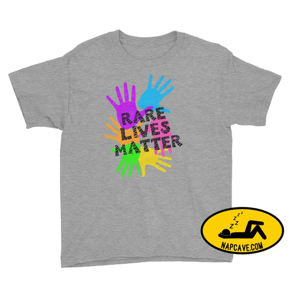 Rare Lives Matter Youth Short Sleeve T-Shirt Heather Grey / S SHIRTS The NapCave Rare Lives Matter Youth Short Sleeve T-Shirt dare to be