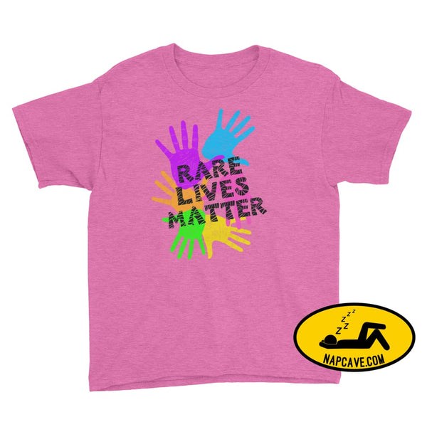 Rare Lives Matter Youth Short Sleeve T-Shirt Heather Hot Pink / S SHIRTS The NapCave Rare Lives Matter Youth Short Sleeve T-Shirt dare to be