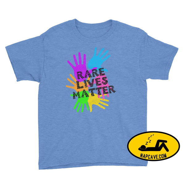 Rare Lives Matter Youth Short Sleeve T-Shirt Heather Royal / M SHIRTS The NapCave Rare Lives Matter Youth Short Sleeve T-Shirt dare to be