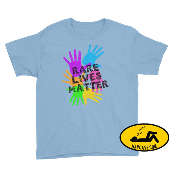 Rare Lives Matter Youth Short Sleeve T-Shirt Light Blue / S SHIRTS The NapCave Rare Lives Matter Youth Short Sleeve T-Shirt dare to be rare