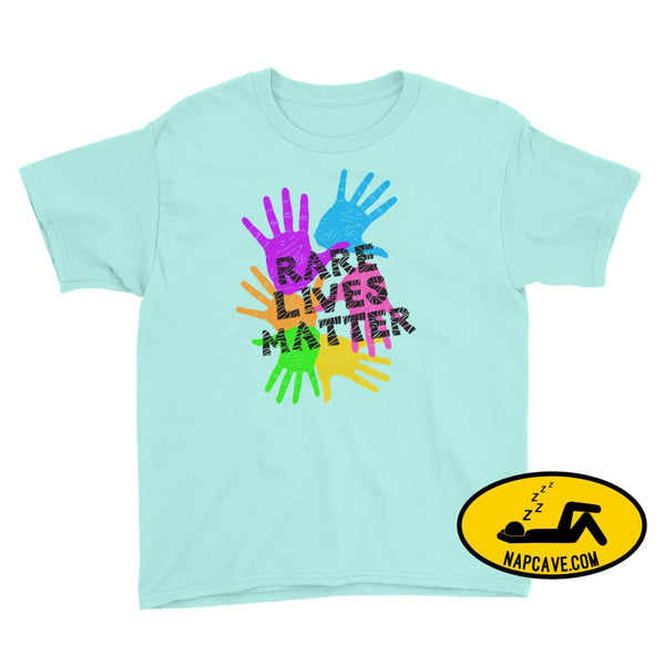 Rare Lives Matter Youth Short Sleeve T-Shirt Teal Ice / S SHIRTS The NapCave Rare Lives Matter Youth Short Sleeve T-Shirt dare to be rare