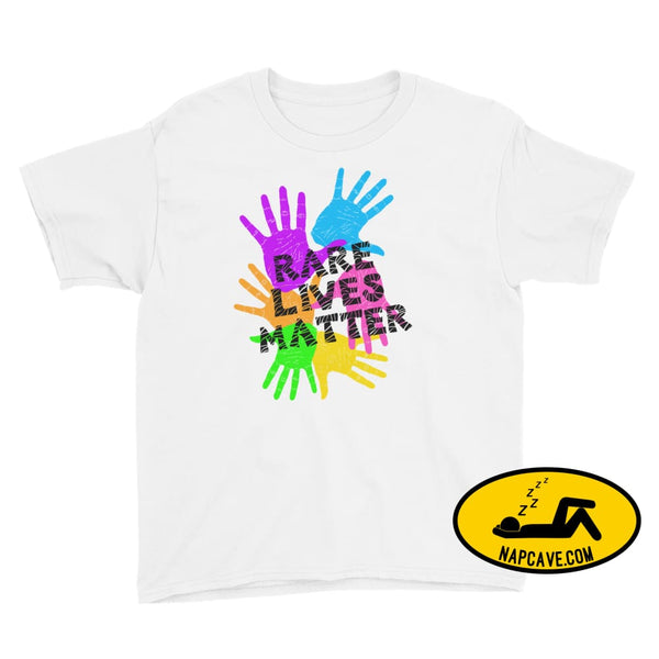 Rare Lives Matter Youth Short Sleeve T-Shirt White / S SHIRTS The NapCave Rare Lives Matter Youth Short Sleeve T-Shirt dare to be rare EDS