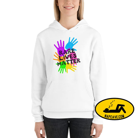 Rare Lives Zebra striped Matter Unisex hoodie White / S Rare Lives Matter we need help The NapCave Rare Lives Zebra striped Matter Unisex