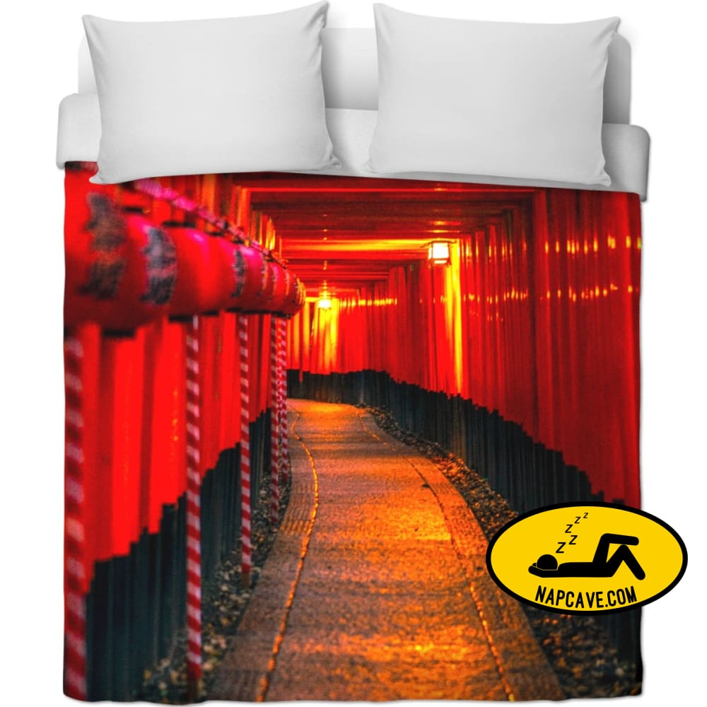 Red Light Central Duvet Covers NapCave Red Light Central blanket comforter duvet duvet cover plush throw